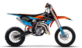 Dekor mit Numberplates KTM SX50 - SX65 Ocean Limited Edition