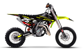 Dekor mit Numberplates KTM SX50 - SX65 Neon Limited Edition