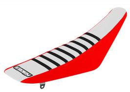 Sitzbankbezug Honda White Top - Red Sides - Black Ribs