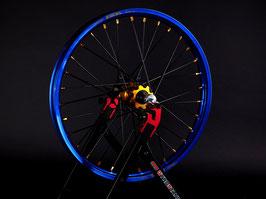 Radsatz Honda ► Excel Felge Blau | Nabe Gold | Speichen Schwarz | Nippel Gold