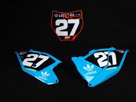 Numberplates TLD KTM Washougal Edition Blue mit eurer eigenen Startnummer