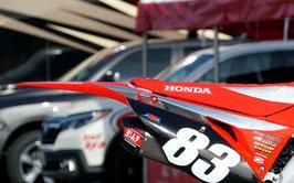 Numberplates Geico Honda 2020 Chrome Limited Edition mit eurer eigenen Startnummer