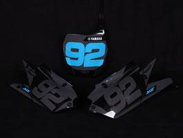 Numberplates Factory Yamaha Grey Limited Edition mit eurer eigenen Startnummer
