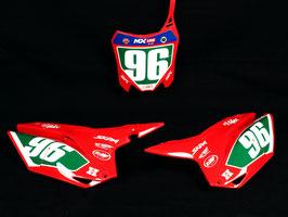 Numberplates Penrite Factory Honda Red mit eurer eigenen Startnummer