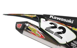 Numberplates Pro Circuit Retro Kawasaki mit eurer eigenen Startnummer