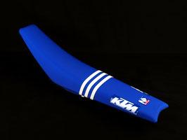 Sitzbankbezug TLD KTM - Blue mit eurer eigenen Startnummer
