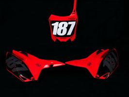 Numberplates Factory Honda Red Limited Edition mit eurer eigenen Startnummer