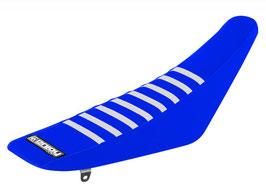 Sitzbankbezug Yamaha Blue Top - Blue Sides - White Ribs