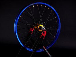 Radsatz KTM ► Excel Felge Blau | Nabe Gold | Speichen Schwarz | Nippel Gold