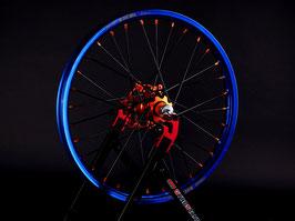 Radsatz KTM ► Excel Felge Blau | Nabe Orange | Speichen Schwarz | Nippel Orange