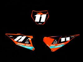 Numberplates Factory KTM Sziget Blue Limited Edition mit eurer eigenen Startnummer