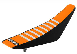 Sitzbankbezug KTM Orange Top - Black Sides - White Ribs