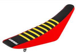 Sitzbankbezug Honda Black Top - Red Sides - Yellow Ribs