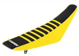 Sitzbankbezug Suzuki Black Top - Yellow Sides - Yellow Ribs