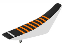 Sitzbankbezug KTM Black Top - White Sides - Orange Ribs