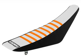 Sitzbankbezug KTM White Top - Black Sides - Orange Ribs