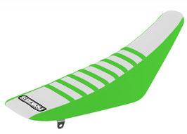 Sitzbankbezug Kawasaki White Top - Green Sides - Green Ribs