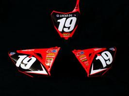 Numberplates Geico Honda mit eurer eigenen Startnummer