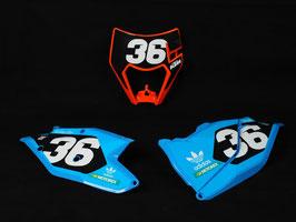 Numberplates TLD KTM Washougal Edition Team Kit 2020 mit eurer eigenen Startnummer