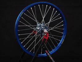 Radsatz Yamaha ► Excel Felge Blau | Kite Nabe Eisblau | Speichen Silber | Nippel Silber