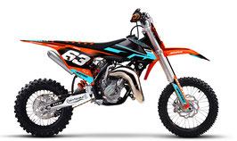 Dekor mit Numberplates KTM SX50 - SX65 Mint Limited Edition
