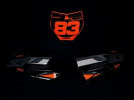 Numberplates Diller Powerparts Factory KTM Black Limited Edition mit eurer eigenen Startnummer