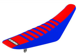 Sitzbankbezug Yamaha Red Top - Blue Sides - Blue Ribs