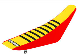Sitzbankbezug Suzuki Yellow Top - Red Sides - Black Ribs