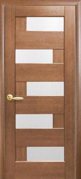 """Дверь """"Пиана"""" (стекло сатин) ПВХ DeLuxe"""