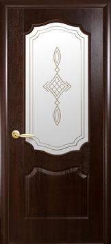 """Дверь """"Вензель"""" стекло R1"""