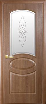 """Дверь """"Овал"""" стекло R1"""