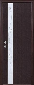 """Дверь """"Злата"""" ПВХ Deluxe с зеркалом и рисунок Р1"""
