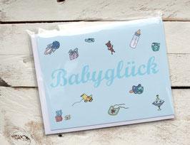 "Klappkarte ""Babyglück"" inkl. Briefumschlag"