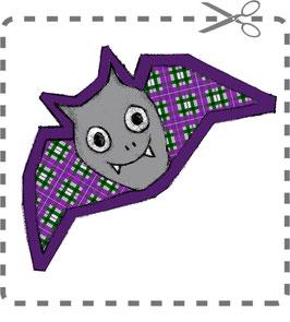 Fledermaus-Nähkit grün/violet