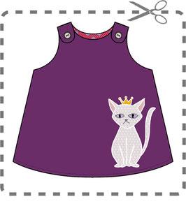 "Kleid-KIT mit Cord ""Little Prince"" Violett"