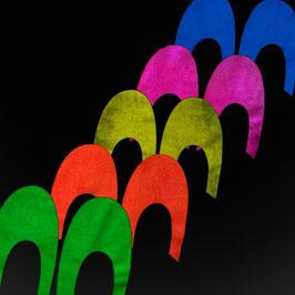 Siebdruck-Leucht-Farben 5x100ml Set