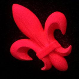 Wand-Leucht-Tattoo Lilia rot