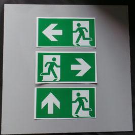 Fluchtwegzeichen selbstklebend transparent