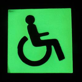 Rollstuhl Schild leuchtet nachts