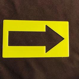 Pfeil Gelb Schilder die leuchten