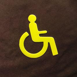 WC-Figur Rollstuhl Gelb Innen