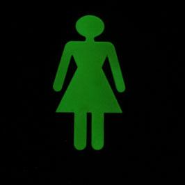 WC-Schild Figur Frau