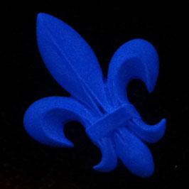Wand-Tattoo Lilia blau leuchtet bei Nacht