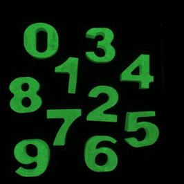 Leuchtzahlen aus Beton 0 - 9 Gelbgrün