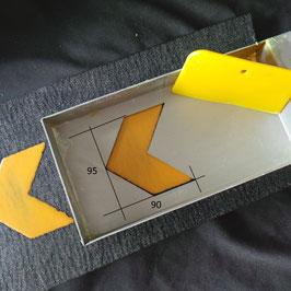 Schablone Pfeil aus Edelstahl 1 mm