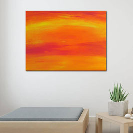 Orange Sky 100 x 70 x 2 cm