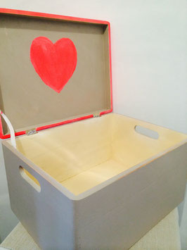 Margit Anglmaier: Box Shabby Chic Heart Inside groß