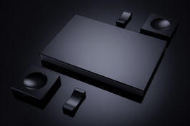 Sushiset aus Schwarzglas