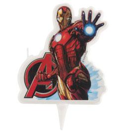 """Kerze """"Iron-Man"""" 7,5cm - 2D"""