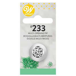 Wilton Decorating Tip #233 & #234 Multi-open Carded
